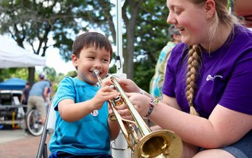 KidZone: Ann Arbor Symphony Orchestra<br>Instrument Petting Zoo